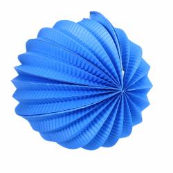 Obrázek Lampion koule modrá 20 cm