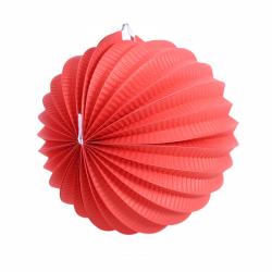 Obrázek Lampion koule červený 20 cm