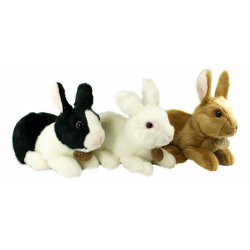 Obrázek plyšový králík sedící, 3 druhy, 23 cm