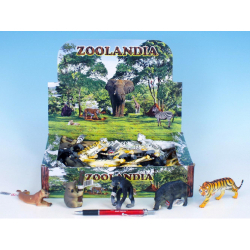 Obrázek Zvieratká safari menšie plast 7,5-13cm - 7 druhov