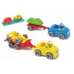 Obrázek Auto s přívěsem 7x24cm plast na volný chod mix druhů ve fólii Kid Cars Sport Wader