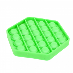 Obrázek Bubble pops silikon antistresová společenská hra 11x11cm - zelená/tyrkysová