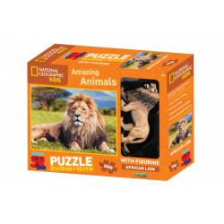Obrázek 3D Puzzle Lev 100 dílků figurka