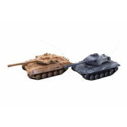 Obrázek Tank RC 2ks 25cm tanková bitva+dobíjecí pack 27MHZ a 40MHz se zvukem se světlem v krabici 50x20x23cm
