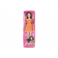 Obrázek Barbie Modelka - oranžové šaty s puntíky GRB52 TV 1.4.- 30.6.