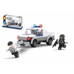 Obrázek Stavebnice Dromader Swat auto policie 98 dílků v krabičce 19x13x5cm