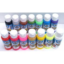 Obrázek Barva na textil 60ml- assort 15 barev