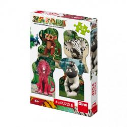 Obrázek Puzzle Zafari: Zoomba a kamarádi 4x54