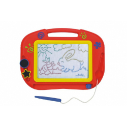 Obrázek Magnetická tabulka kreslící barevná s doplňky plast