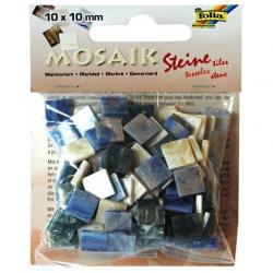 Obrázek Mozaika živicová 10x10mm- modrý mramor