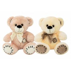 Obrázek Medvěd s mašlí sedící plyš 28cm 2 barvy 0m+