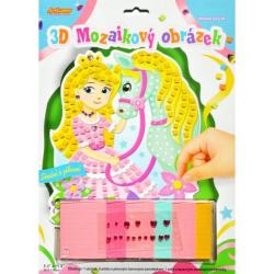 Obrázek 3D mozaikový obrázek - Koník s princeznou
