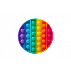 Obrázek Bubble pops - Praskající bubliny silikon antistresová spol. hra kruh duha 12cm v sáčku