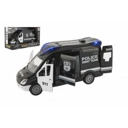Obrázek Auto policie swat plast 26cm na setrvačník na baterie se zvukem se světlem v krabici 30x17x11,5cm