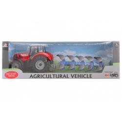 Obrázek Traktor s orným pluhem