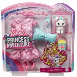 Obrázek Barbie PRINCESS ADVENTURE ZVÍŘÁTKO A ŠATY S DOPLŇKY ASST - 3 druhy