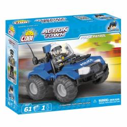 Obrázek Cobi 1547  Action Town Policejní hlídka ATV 61 kostek
