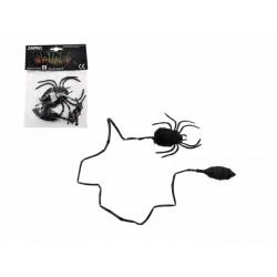 Obrázek Pavouk skákající plyš/plast 7cm v sáčku 14x19x3cm