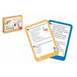 Obrázek Kapesní kvízy junior - Zvířata cestovní společenská hra CZ verze v krabičce 14x10x2cm