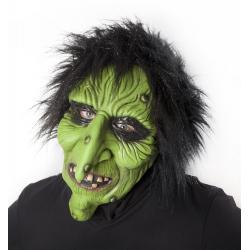 Obrázek maska čarodějnice zelená
