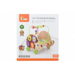 Obrázek Dřevěná tahačka ježek s aktivitami 5v1