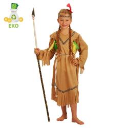 Obrázek Dětský kostým indiánka s čelenkou (M) EKO