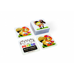 Obrázek Pexeso zvyky a tradice voděodolné 64 karet v plechové krabičce 6x6x4cm Hmaťák