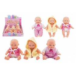 Obrázek Miminko panenka pevné tělo plast 12cm 3druhy 9ks v boxu