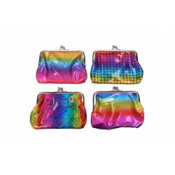 Obrázek Peněženka dívčí duhová plast 12x10cm mix barev v sáčku
