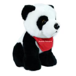 Obrázek plyšová panda sedící, 18 cm se šátkem