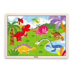 Obrázek Dřevěné puzzle 16 dílků - dinosauři