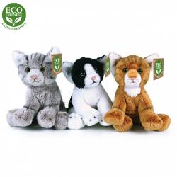 Obrázek Plyšové kočky sedící 14 cm ECO-FRIENDLY