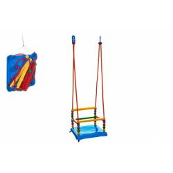Obrázek Houpačka plast 35x34cm modrá nosnost 40kg v síťce