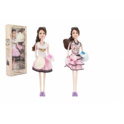 Obrázek Panenka kloubová s doplňky plast 30cm 2 druhy v krabici 14x32,5x5cm