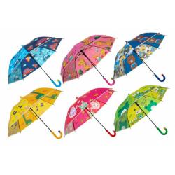 Obrázek Deštník vystřelovací 66cm kov/plast mix barev v sáčku