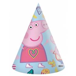 Obrázek Klobouk papírový Peppa Pig 6 ks