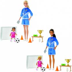 Obrázek Barbie fotbalová trenérka s panenkou herní set - 2 druhy