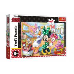 Obrázek Puzzle Minnie Disney v salónu krásy 41x27,5cm 100 dílků v krabici 29x19x4cm