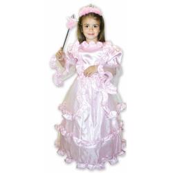 Obrázek Dětský kostým Princezna růžová (M)
