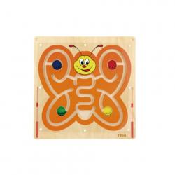 Obrázek Dřevěný nástěnný labyrint motýl