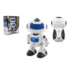 Obrázek Robot RC chodící plast 20cm na baterie se světlem se zvukem v krabici 22x26x10,5cm