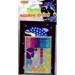 Obrázek Třpytivý mozaikový obrázek. V balení 24 ks, zadejte počet kusů, cena je za 1ks