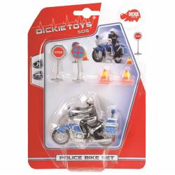Obrázek Policejní motocykl 10 cm s přísl.