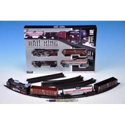 Obrázek Vlak s kolejemi plast 104x68cm  se světlem se zvukem