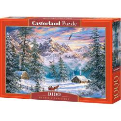 Obrázek Puzzle Castorland 1000 dílků - Vánoční hory