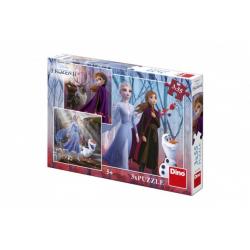 Obrázek Puzzle 3v1 Ľadové kráľovstvo II / Frozen II 3x55dílků v krabici 27x19x4cm