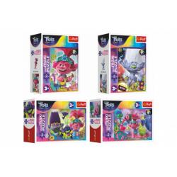 Obrázek Minipuzzle miniMaxi 20 dílků V hudebním světě Trollů 4 druhy v krabičce 11x8x4cm 24ks v boxu
