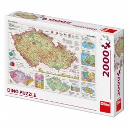 Obrázek Puzzle Mapy české republiky 2000D