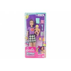 Obrázek Barbie Chůva skipper + miminko/doplňky GRP11