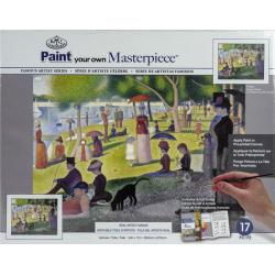 Obrázek Malířské plátno Royal Langnickel - Nedělní odpoledne na ostrově Grande Jatte, Georges Seurat
